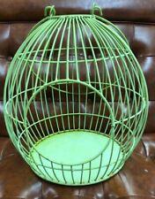 Round Green Bird Cage Antique Vintage Shaped Retro Mid Century Modern Decor