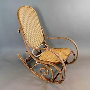 Vintage Rocking Chair Bentwood Thonet Style Vienna Jacob & Josef Kohn? RTG/ML