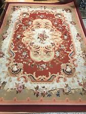 """10'2"""" x 14'1"""" Chinese Aubusson Oriental Rug - Flat Weave - Hand Made - 100% Wool"""