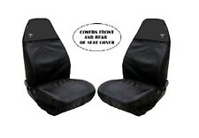 Heavy Black Waterproof Front Car Seat Covers PEUGEOT 108 207 208 308 408 2008