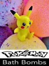 5 POKEMON LARGE FIZZY Bath Bombs WITH A POKEMON GO TOY INSIDE EACH ONE