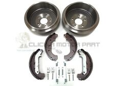 FORD TRANSIT CONNECT REAR 2 BRAKE DRUMS AND SHOES SET & SHOES FITTING KIT
