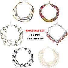 Fashion Jewellery For Women Wholesale lot - Set of 60 Choker Necklace 10pcs Each