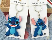 2pcs lilo&stitch blue silica cute key chain key chains Jewelry pendant new