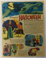 1963 cartoon page ~ ORIGIN OF HALLOWEEN