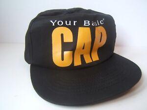 Your Basic Cap Vintage Black Snapback Baseball Hat