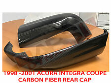 1998 99 00 2001 Acura Integra 2Dr Type R 2pc Carbon Fiber Style Rear Cap