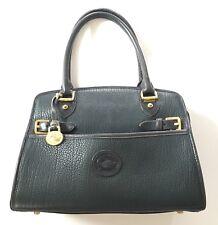 Vintage Navy Blue Dooney & Bourke Doctors Bag Satchel All-Weather Leather