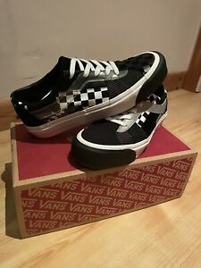 Vans Bold Mono Patchwork Black and White UK Size 7.5 *New/Great Condition*