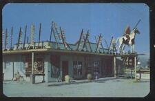 Postcard WICKENBURG Arizona/AZ RT ROUTE 66?  Many Feathers Indian Trading Post