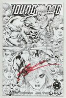 Youngblood #1 Phat Collectibles Sketch Variant SIGNED Rob Liefeld (Image 2017)