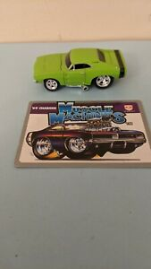 1/64 Muscle Machines 1969 Dodge Charger Green '69 MOPAR diecast w/ card