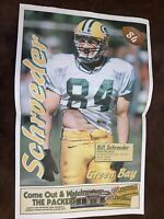 1999 Bill Schroeder - Green Bay Packers Newspaper Poster Wisconsin La Crosse