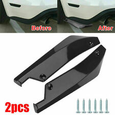 2x Car Rear Bumper Lip Diffuser Splitter Canard Protector Accessories Polished Fits Toyota Yaris