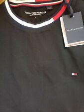 Tommy Hilfiger Men's Stretch Slim Fit Crew Neck T-Shirt, Black Sz Large. NWT $39