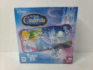 Cinderella Foam Fit 98 Piece Puzzle 2008 Rare Special Edition Milton Bradley
