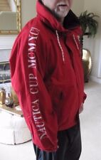 NWOT RARE  Nautica Cup 1991 Vintage Jacket size XL Spellout Red World Sailing