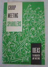 Vintage 1973 Group Meeting Sparklers Booklet Boy Scouts America BSA Cheers Games