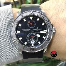 Ulysse Nardin Maxi Marine 263-33 Automatic Steel Black Rubber 43mm Mens Watch