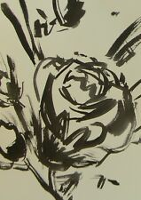 JOSE TRUJILLO - ABSTRACT EXPRESSIONISM INK WASH MINIMALIST FLOWERS DECOR ART
