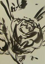 JOSE TRUJILLO - ABSTRACT EXPRESSIONISM INK WASH MINIMALIST FLOWERS DECOR ART