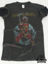 """T-shirt Homme Iron Maiden """"Somewhere On Tour 1987""""  Style vintage Neuf"""
