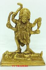 KALI BRASS STATUE ALTER MEDITATION DURGA KAALI MAA HINDU GODESS IDOL K49M