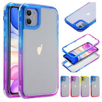 For iPhone 12 Pro Max 12 11 Mini Shockproof Gradual Soft TPU Phone Case Cover