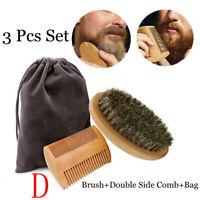 Styling Tool Facial Shaving Beard Grooming Beard Comb Kit Boar Bristle Brush