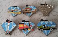 2015 Hidden Mickey Diamond Attractions Set DLR Disneyland Choose a Disney Pin