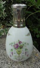 LAMPE BERGER EN PORCELAINE DE LIMOGES GIRAUD DECOR FLORAL DN1446