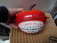 Cocotte fonte emaillée Tomate BAUMALU enamel cast iron casserole idem creuset