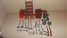Playmobil Western Drug Store 3424 Regal Besteck Werkzeug Waffen Stühle