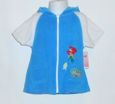 """Disney Little Mermaid """"Ariel"""" One (1) Piece Swimsuit & Hooded Terry Cover Up 2T"""