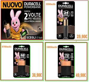 power bank DURACELL carica batteria esterna portatile powerbank x smartphone NEW