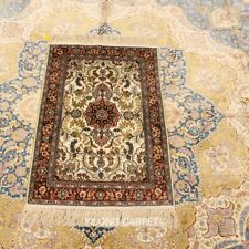 YILONG 2'x3' Classic Handmade Silk Carpet Floral Indoor Area Rug LH922B