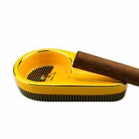 Mini Yellow Ceramic Cigar Ashtray Professional Cigars Accessories Pocket Ashtray