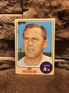 1968 Topps Jim Catfish Hunter #385