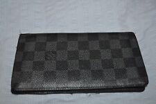 Louis Vuitton Wallet Long Black Monogram 100% Authentic Guaranteed Leather Pouch