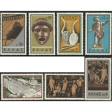Greece 1959 Ancient Greek Theatre Set of 7 Stamp Michel 706/12 MUH (4-15)
