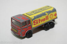 MAJORETTE SAVIEM SHELL TANKER CITERNE RED YELLOW GOOD CONDITION