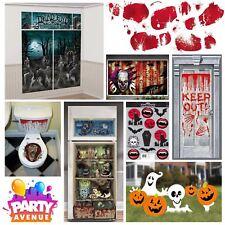 Halloween Indoor & Outdoor Decorations Scene Setters Room Rolls Signs
