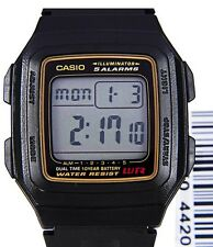 AUSSIE SELER***NEW*** CASIO GENTS F201 F201WA F-201WA-1A ALARM GENUINE JAPAN