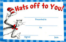 Eureka 844790 Dr. Seuss Hats of To You Classroom Rewards and Certificates