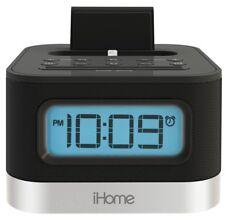 iHome iPL8BN Stereo FM Clock Radio with Lightning Dock for iPhone/iPod - Black™