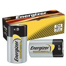 12x Energizer LR20 Industrial D Batteries Long-lasting 1.5 V Alkaline Battery