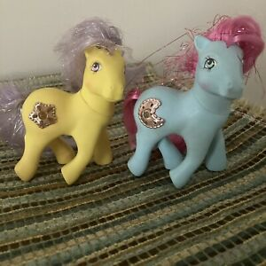 My Little Pony G1 Lot - Princess Ponies Royal Blue And Starburst- Vintage
