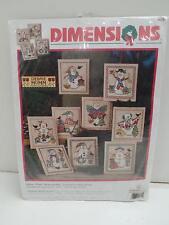 Dimensions Stamped Cross Stitch Kit 8623 Snow Pals Ornaments Debbie Mumm New