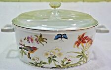 Shafford Chinese Garden Porcelain Dutch Oven Covered Dish (052)