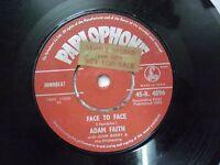 """ADAM FAITH WITH JOHN BARRY 45 R 4896 RARE SINGLE 7"""" INDIA INDIAN 45 rpm VG+"""